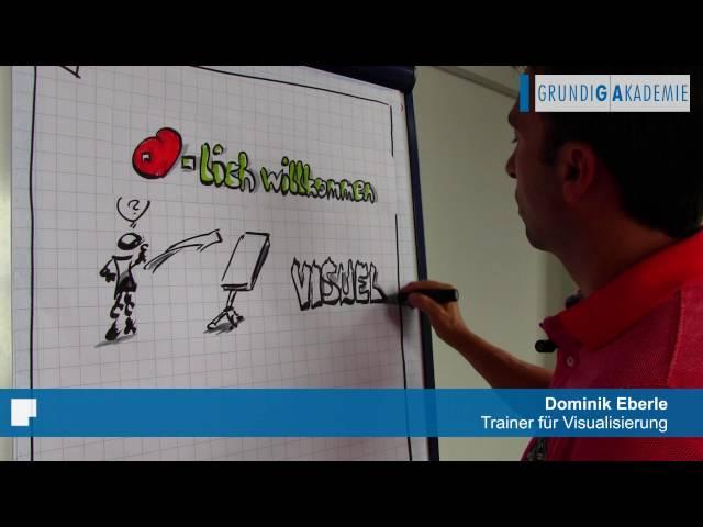 Mit einfachen Mitteln am Flipchart visualisieren - Dominik Eberle