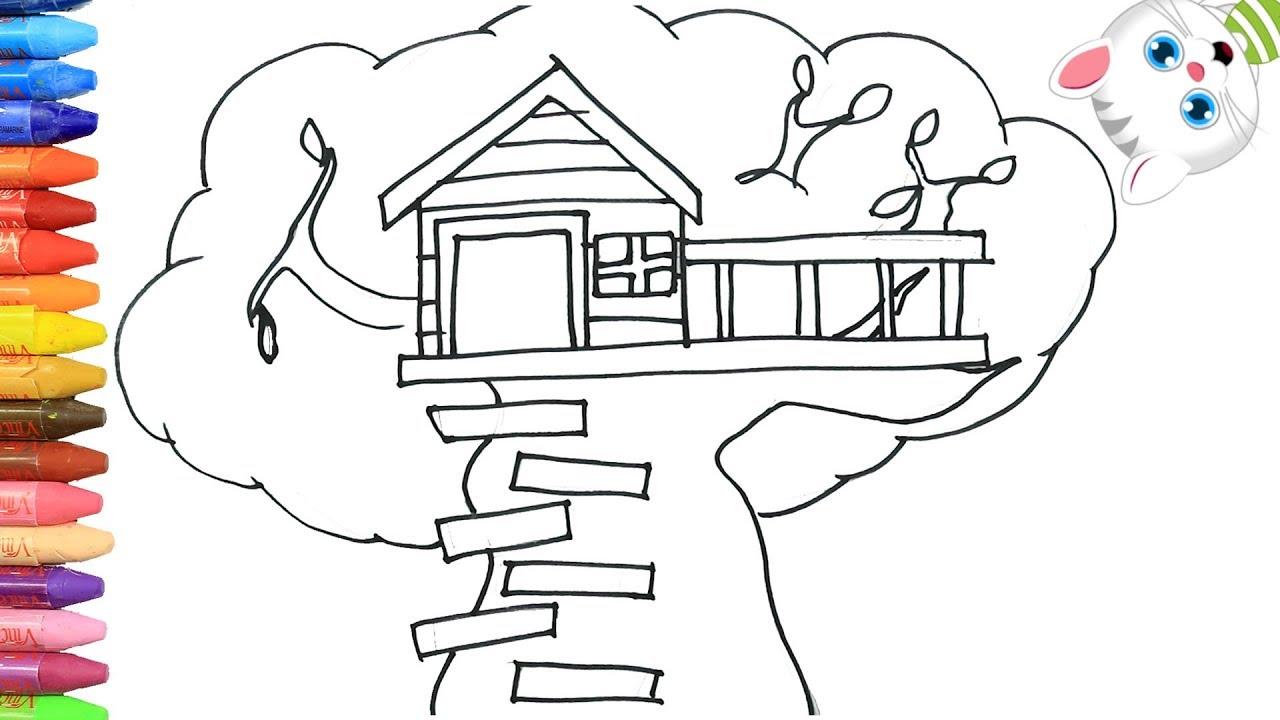 Rumah Pohon Cara Menggambar Dan Mewarnai TV Anak
