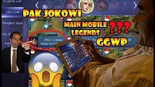 Presiden Jokowi Main Mobile Legends ???   GGWP  Masuk TOP Hero Global