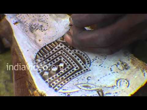 Wooden Mehndi Stamps making in Pushkar
