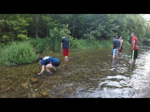 Catching Crawfish By Hand (Missouri)