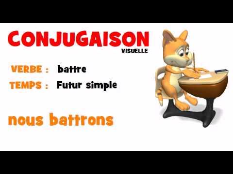 Conjugaison Battre Futur Simple Youtube