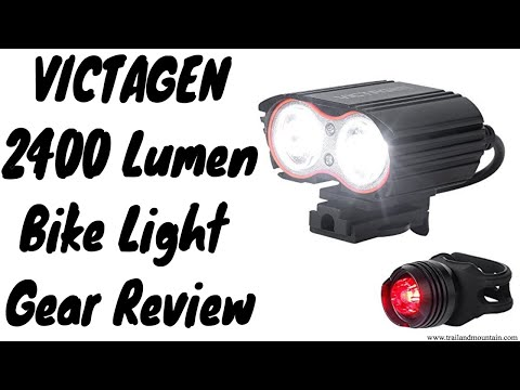 Victagen K2d 2400 Lumen Bike Light Gear Review Youtube