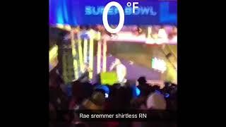 Rae Sremmurd performing shirtless in 0 degree weather super bowl 2018