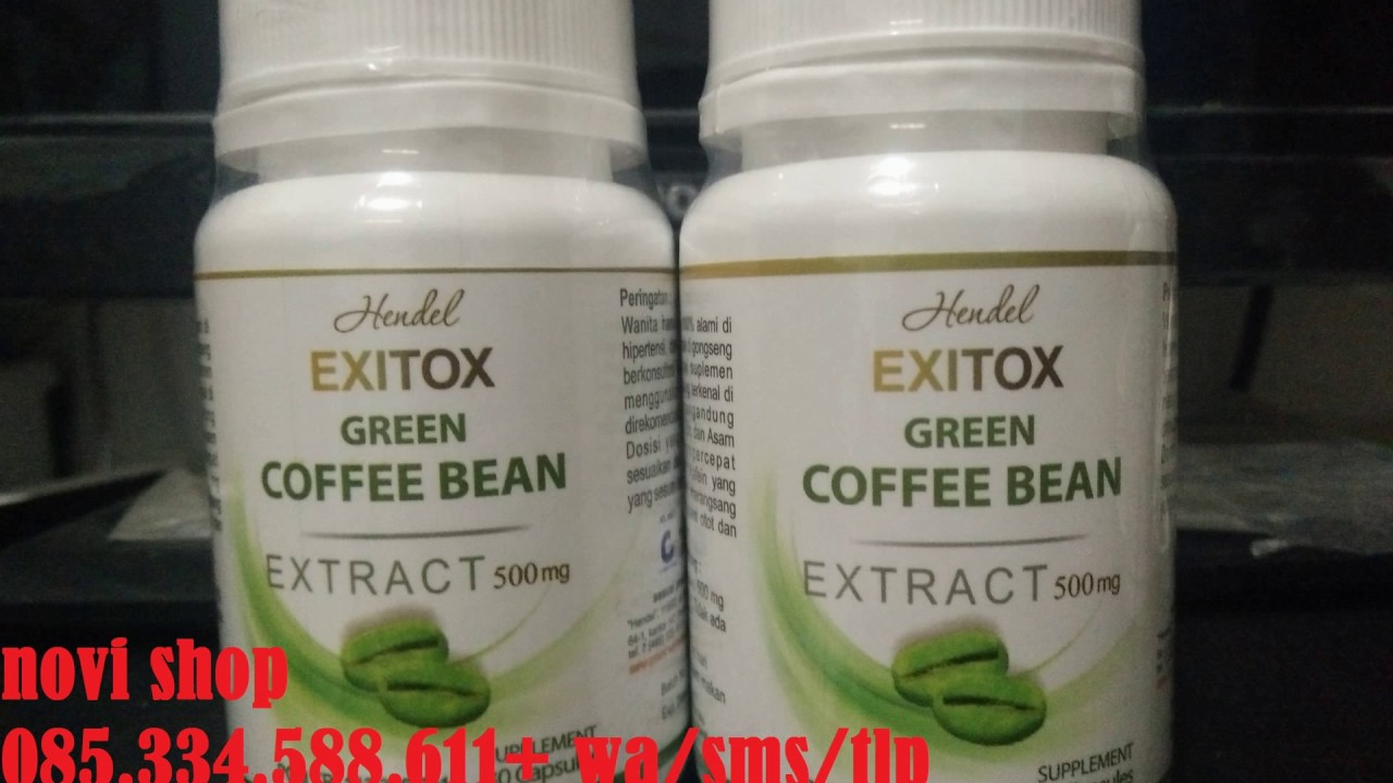 hendel exitox green coffee bean harga