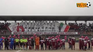 Locri   Amantea   i tifosi amaranto omaggiano i calciatori del Locri