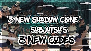 [85 SPIN CODES] 3 NEW SHADOW CLONE SUBJUTSU'S SHOWCASE|3 NEW SUBJUTSU'S IN NRPG|ROBLOX Naruto Beyond