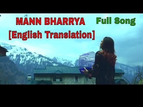 Mann Bharrya || English Lyrical Translation || B Praak || Jaani || Full Song