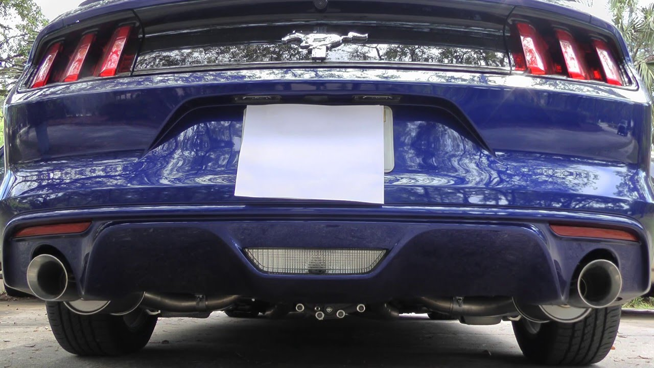 2016 Mustang V6 Exhaust >> 2015 2016 V6 3 7 Mustang Slp Lm2 Loudmouth Ii Axle Back Exhaust