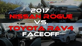 2017 Nissan Rogue SL vs. 2017 Toyota RAV4 Platinum: Faceoff Comparison