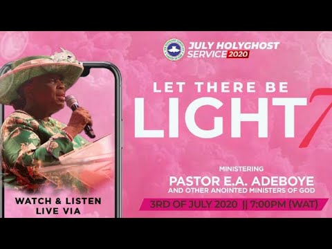 Watch LIVE RCCG Holy Ghost Service For July 2020