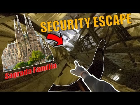 INSANE SECURITY ESCAPE (CLIMBING Sagrada Família) WE GOT LUCKY!
