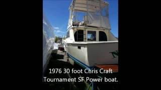 1976 30 Foot Chris Craft Tournament Sf Power Boat In W