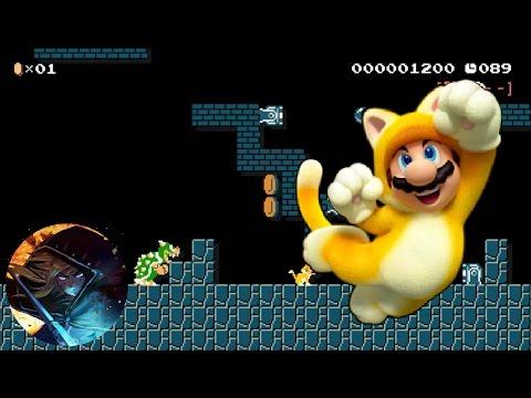 Super Mario 3D World Remixed in Super Mario Maker