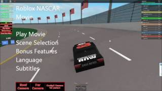 Roblox NASCAR Movie DVD Menu