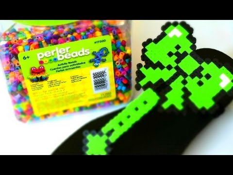 a70a100f3  DIY  Perler Bead Flip Flop - YouTube