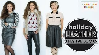 3 Ways to Wear Leather During the Holidays Thumbnail