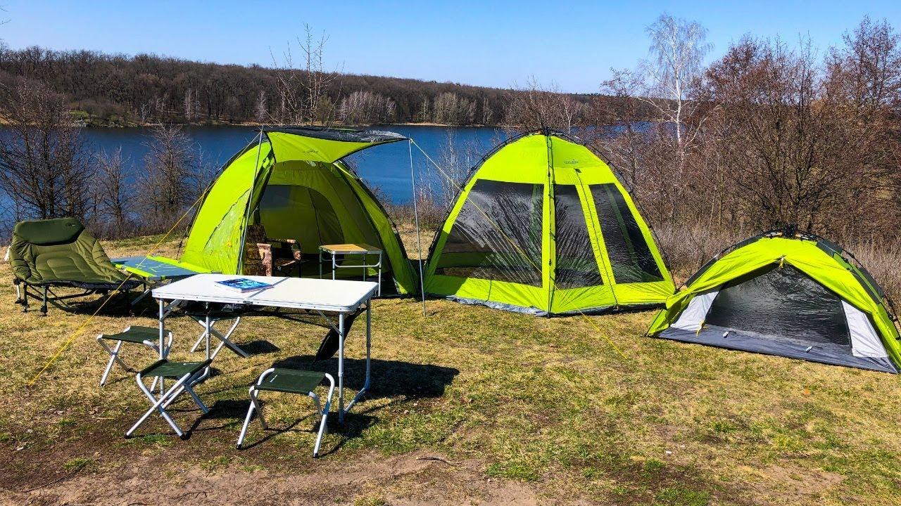 Обзор на автоматические палатки Норфин, туристическую мебель и самонадувные коврики!