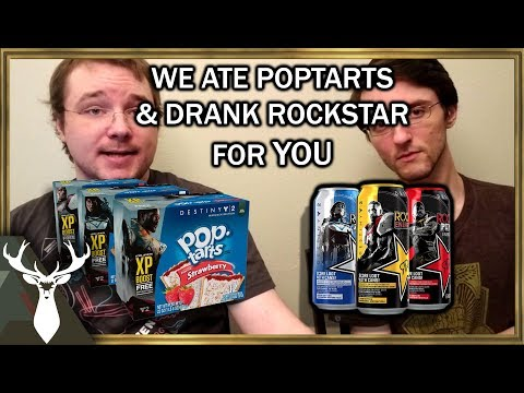 Datto and Holtz drink Rockstar and eat Poptarts for science