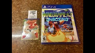 Limited Run Games Windjammers PS4 Unboxing
