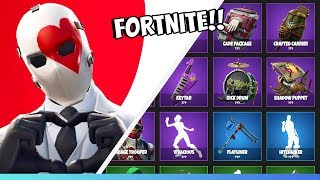 ALL THE SECRET SKINS THAT COME TO THE ITEM SHOP & BUY WILD CARD! FORTNITE IN ENGLISH