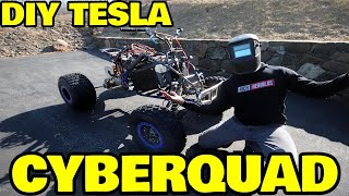 Building a Tesla cyberquad out of a cheap ATV