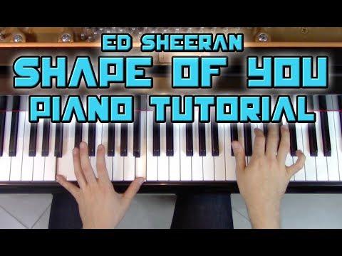 """Shape Of You"" - Complete Piano Tutorial - Ed Sheeran + Sheet Music | George Vidal Tutorial"