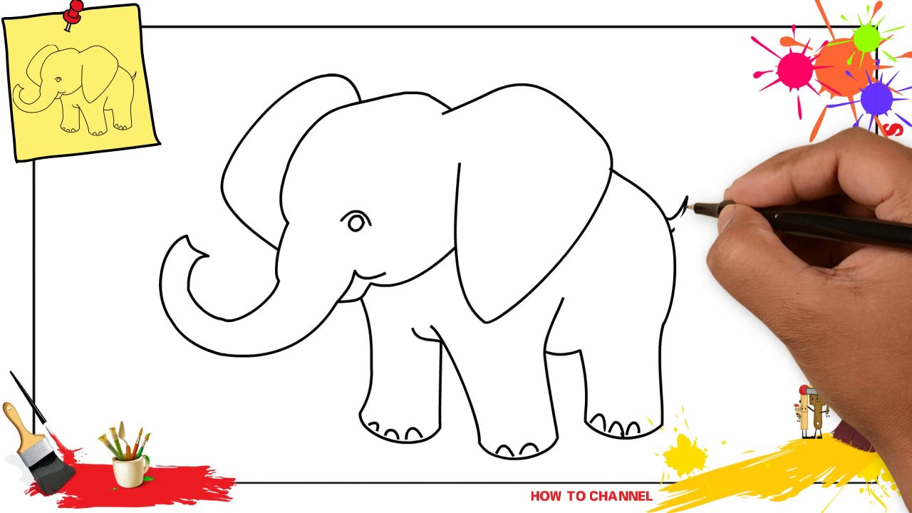 How to draw an elephant SIMPLE & EASY step by step for ...