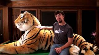 Amazing Life Size Stuffed Bengal Tiger! -  7 Feet Long! 11 Feet Long With The Tail!