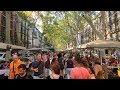 LA RAMBLA - Barcelona Summer Walk