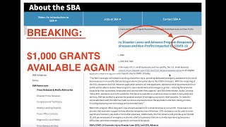 $1,000 Stimulus Grants Are Available Again // How To Apply As Independent Contractor