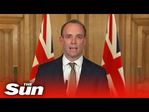 Dominic Raab and government officials give coronavirus daily briefing - LIVE