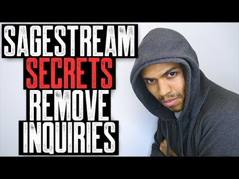 SAGESTREAM SECRETS REMOVE INQUIRIES || TRADELINES BOOST YOUR CREDIT SCORE NOW