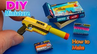 How to make a mini Nerf Fortnite Elite and Nerf Fortnite Darts - Tutorial | No Polymer Clay!