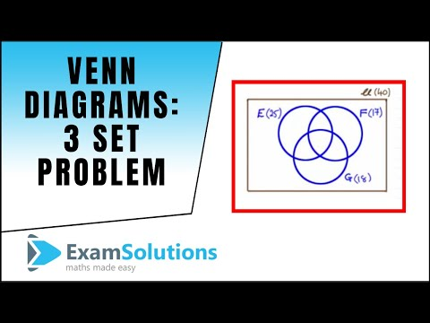 Venn Diagrams 3 Set Problem Examsolutions Maths Revision Youtube