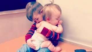 Adorable Baby Siblings Protective Each Other #2 🤭 Funny Fails Baby Video