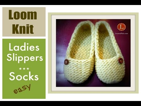 LOOM KNITTING Slippers Socks Projects Step by Step for Beginners | Loomahat