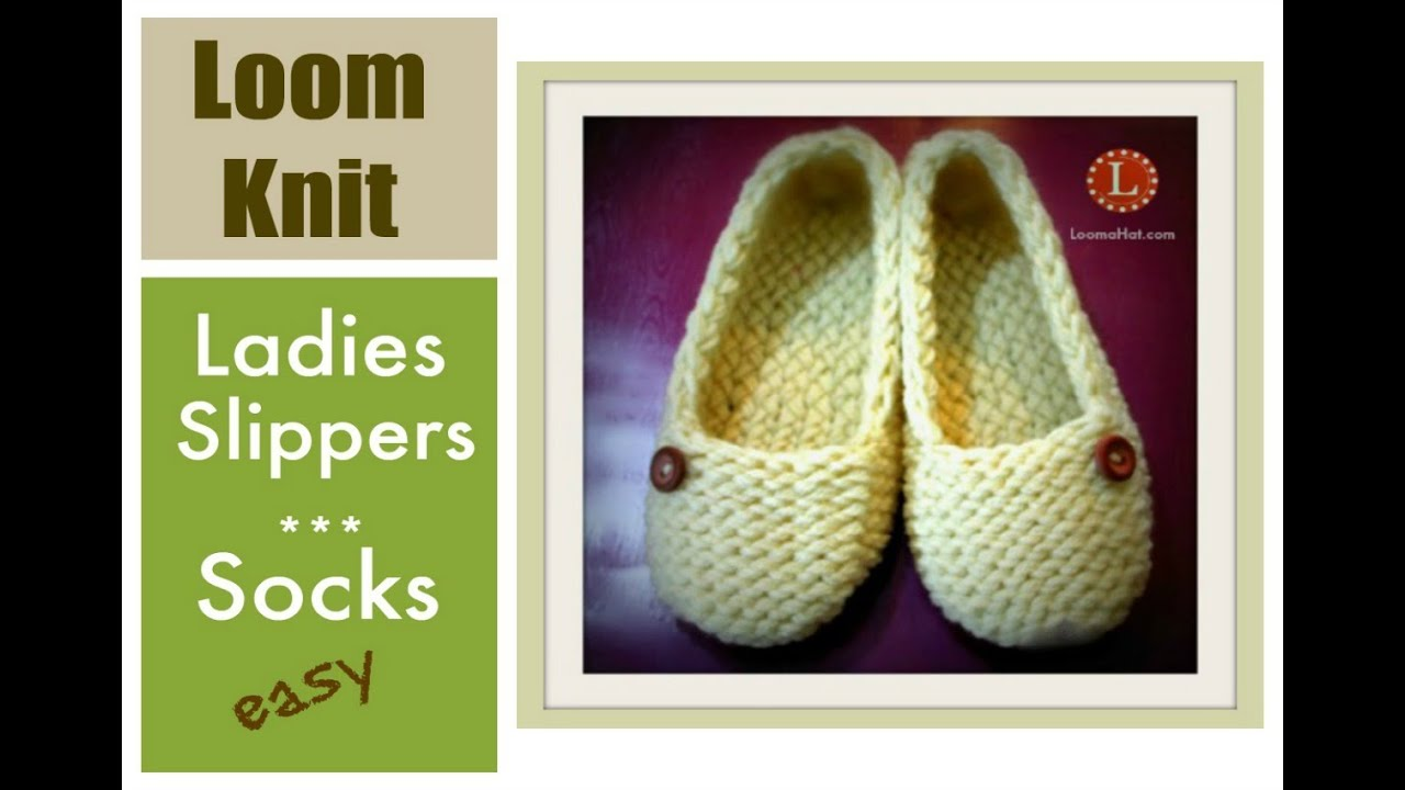 LOOM KNITTING Slippers Socks Projects Step by Step for Beginners ...