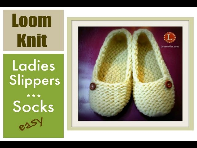 Knitting Patterns For Beginners Step By Step : Video loom knitting slippers socks projects step by