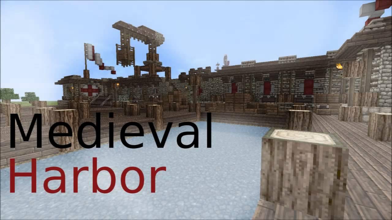 Minecraft Medieval Harbor Youtube