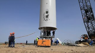 GLOBALink | Central Asia's largest Chinese-built wind farm to power 1 mln Kazakh homes