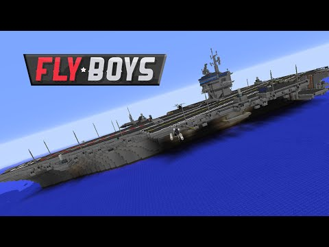 Flyboys Modded Minecraft 32 :: Aircraft Carrier