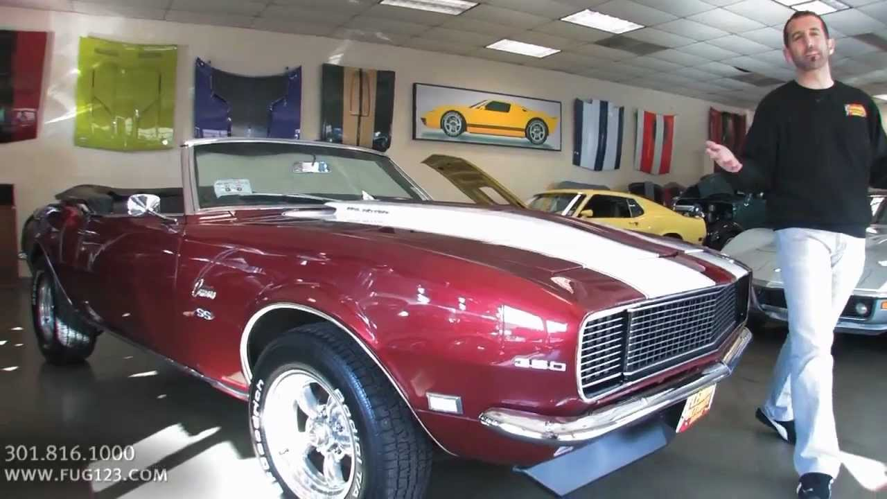 1968 Chevrolet Camaro Ss Convertible For Sale With Test
