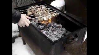 как приготовить шашлык зимой (по Russki)  ЖЕСТЬ