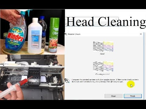 How to clean printer head cleaning solution in urdu hindi Epson 382 Color Missing Problems