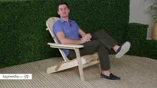 Foldable Adirondack Chair Kit - Natural - Product Review Video