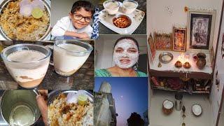 Diml Friday Routine ll Healtiest Breakfast ll Veg Dum Biryani ll Best Face pack ll Tripura