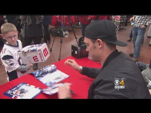 Chris Hogan Meets Fans In Boston