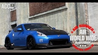 ACCtv NISSAN Z V37 airrunner airsuspension systems
