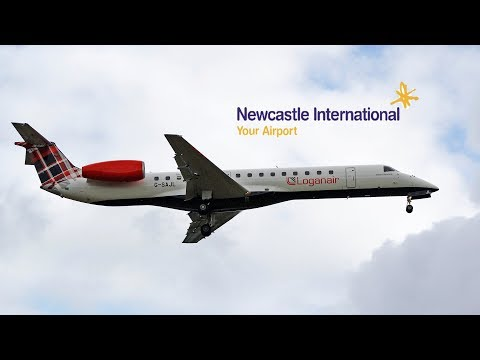 LIVE From Newcastle Airport | Inaugural Loganair From Aberdeen | 1st September 2019